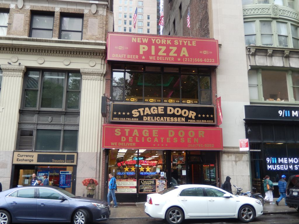 lower manhattan s stage door pizza just another run of the mill new
